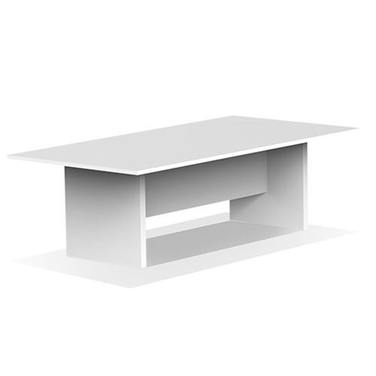 10′ Conference Table - White