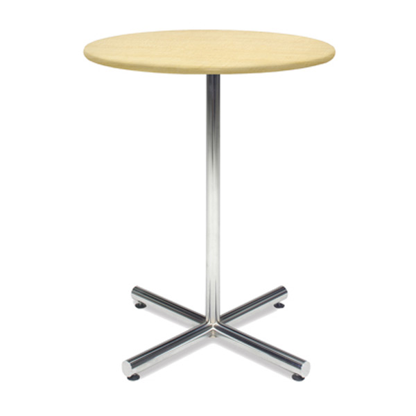 36″ Round Bar Table with Chrome Base - Maple