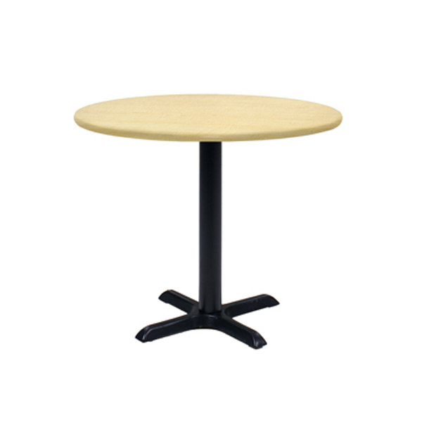 36″ Round Cafe Table - Maple with Black Base