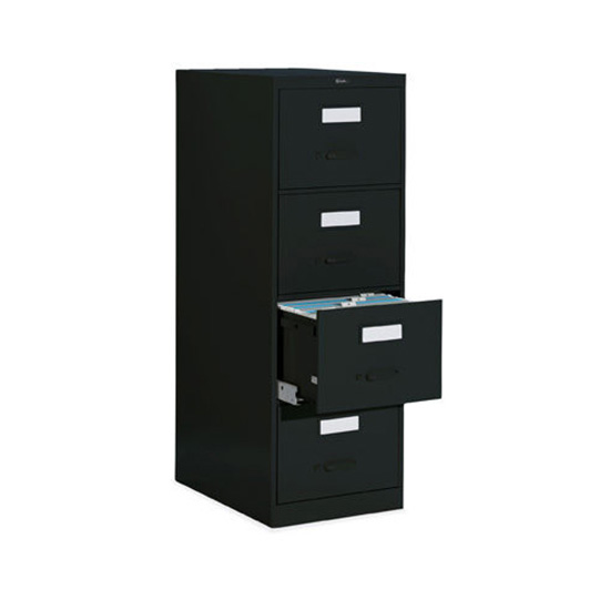 4 Drawer Black Vertical File (Letter)
