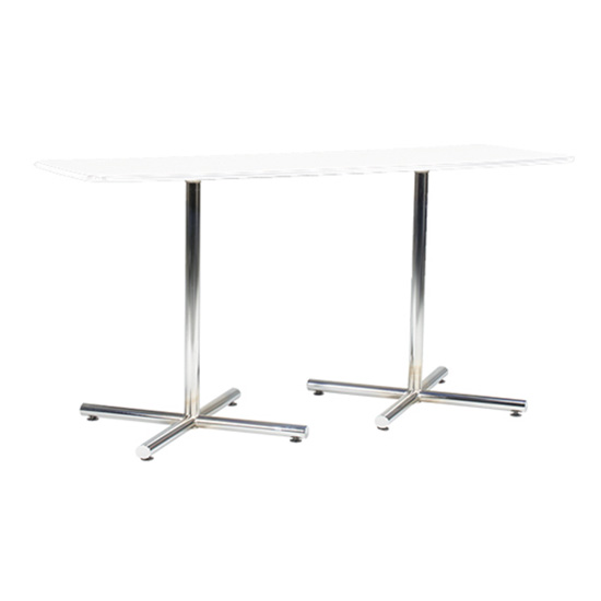 6' Rectangle Cafe Table with Chrome Base