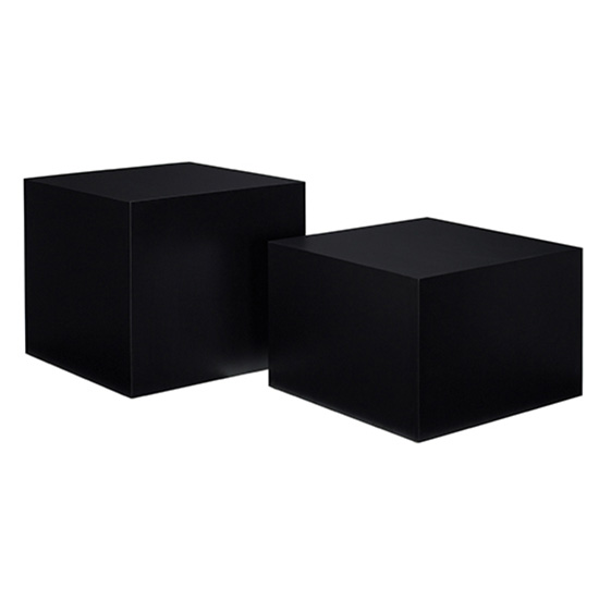 Cube End Table - Black