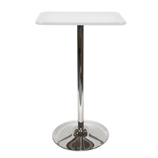 24″ Square Bar Table - White With Tulip Base