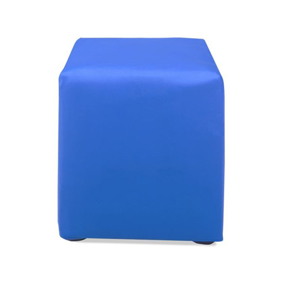 Cube Ottoman - Blue Vinyl