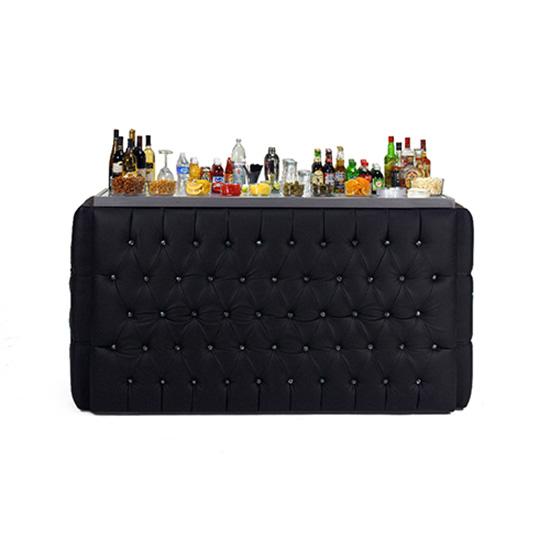8′ Crystal Bar Surround - Black