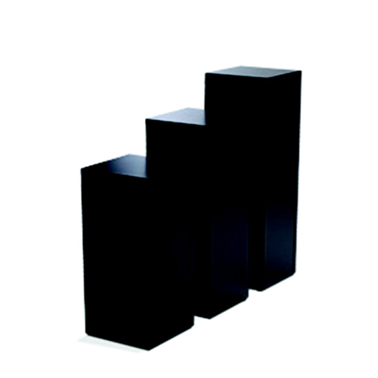 Display Pedestal 36″ Black 24″ Sq.