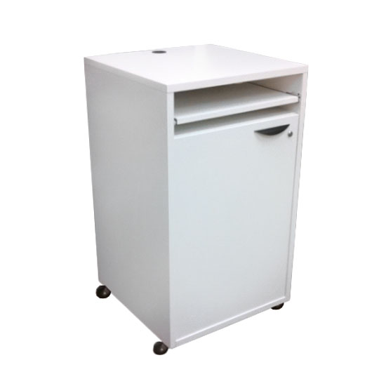 Locking Pedestal - White
