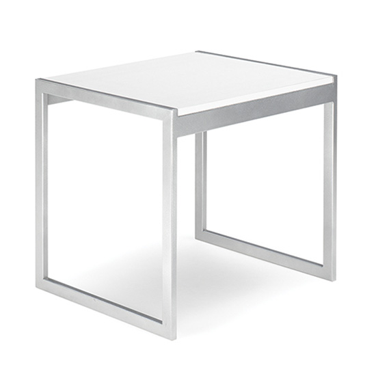Aria End Table - White