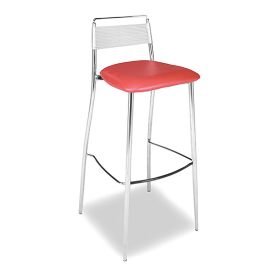 Silk Back Bar Stool - Red