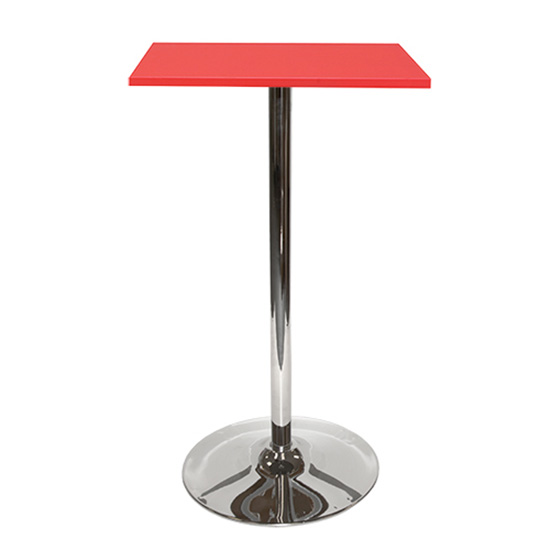Spectrum Bar Table With Tulip Base - Red