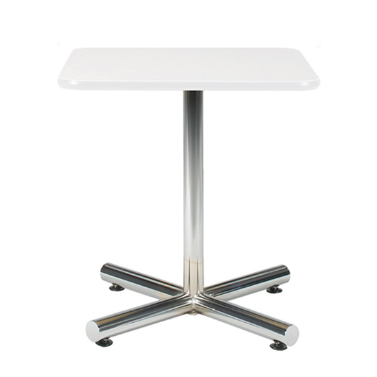 24″ Square Cafe Table with Chrome Base